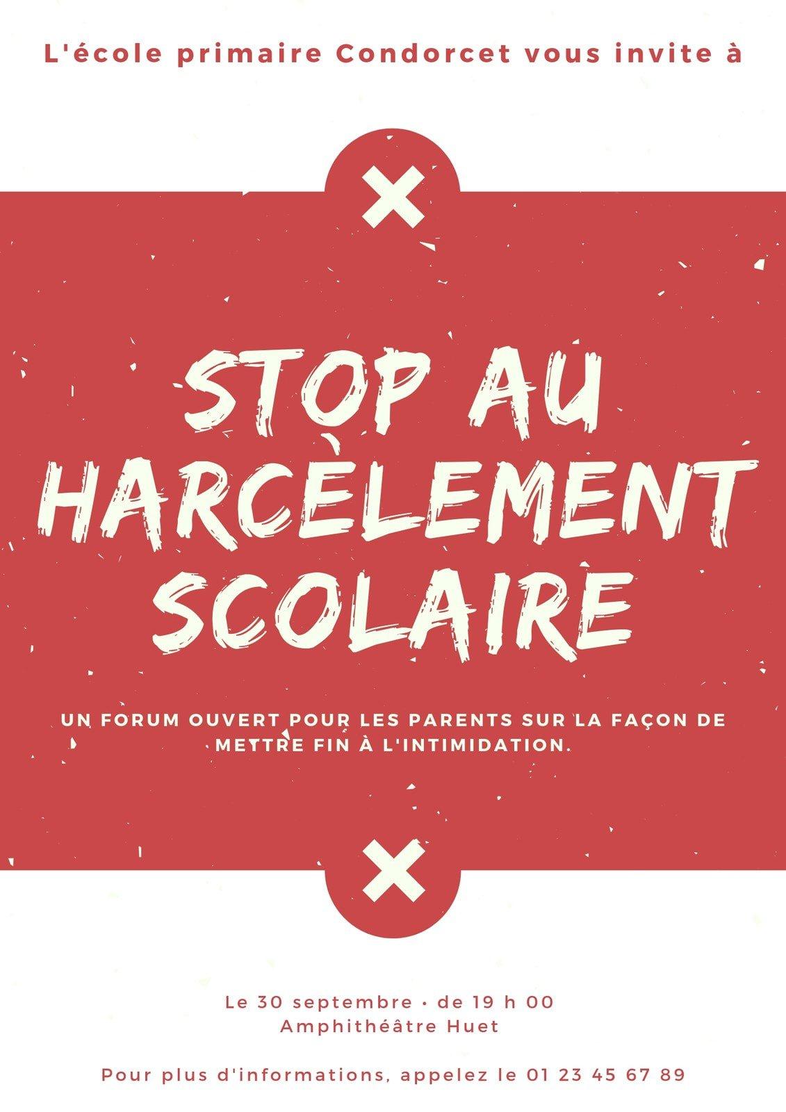 Rouge et Crème Poussière Anti Intimidation Affiche