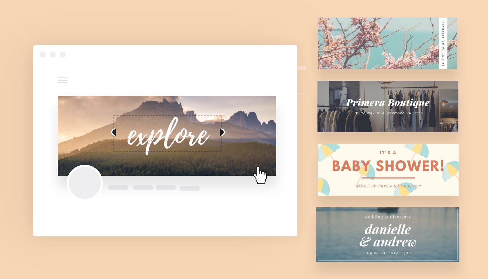 aplikasi desain banner, banner background - Canva