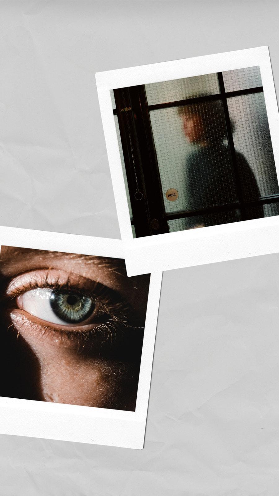 Blanco y Gris 2 Fotos Polaroid Historia de Instagram