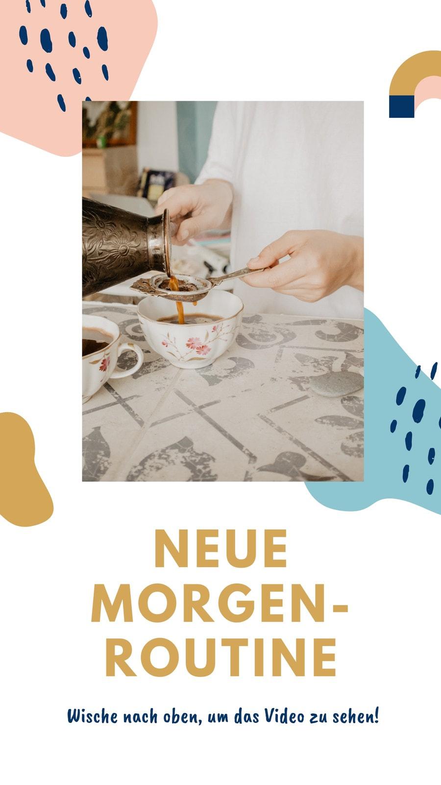 Gold, Rosa und Blau Formen Wellness Influencer Instagram-Story-Set