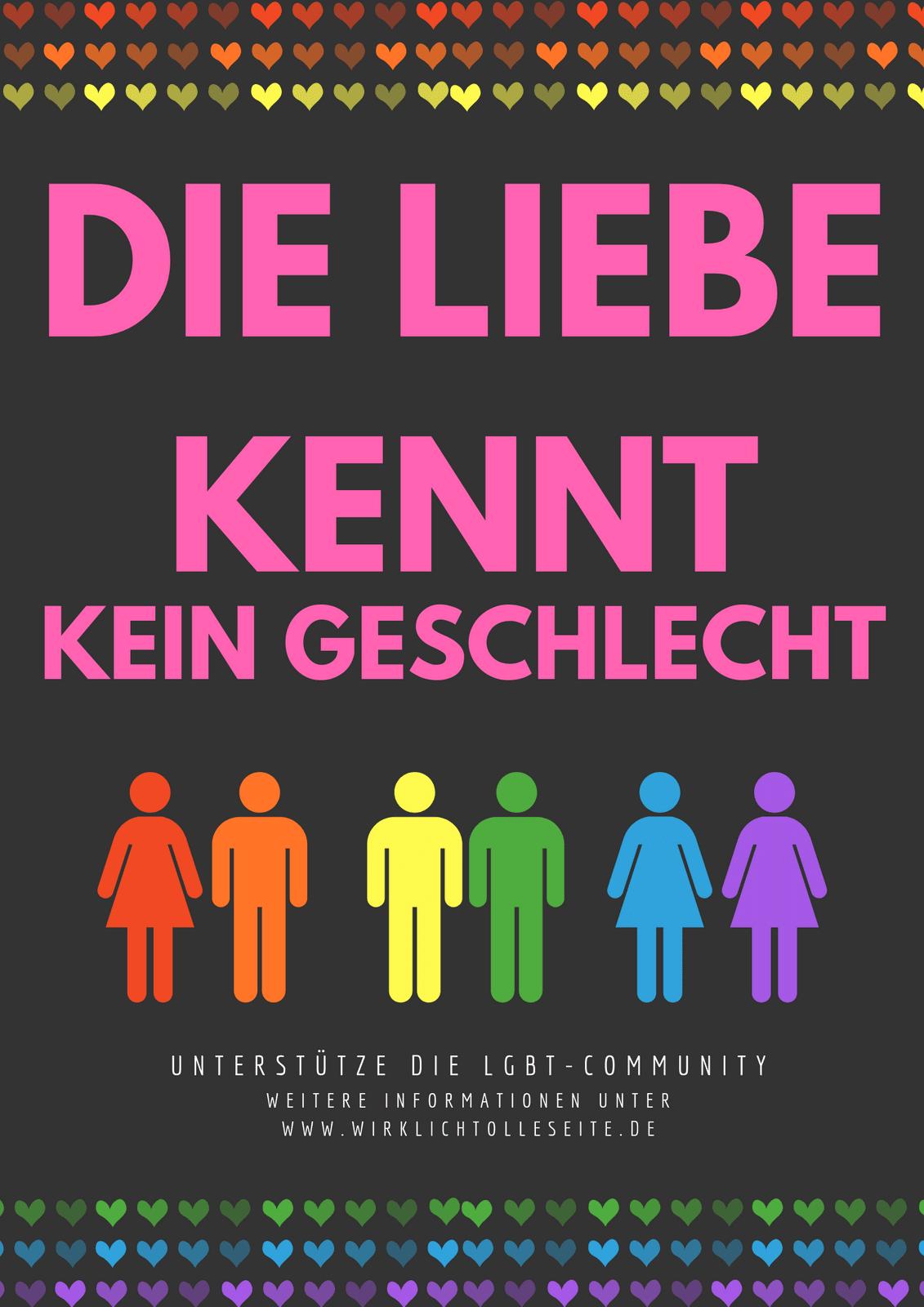 Liebe gewinnt Kampagne Poster