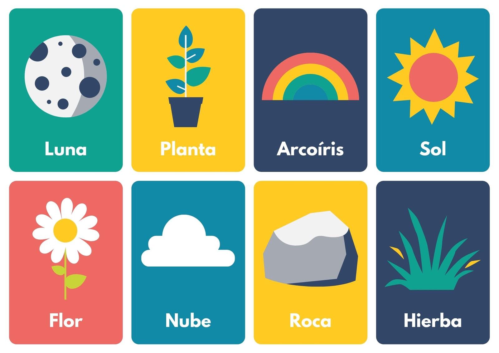 Tarjeta Aprender Vocabulario Ilustración Exterior