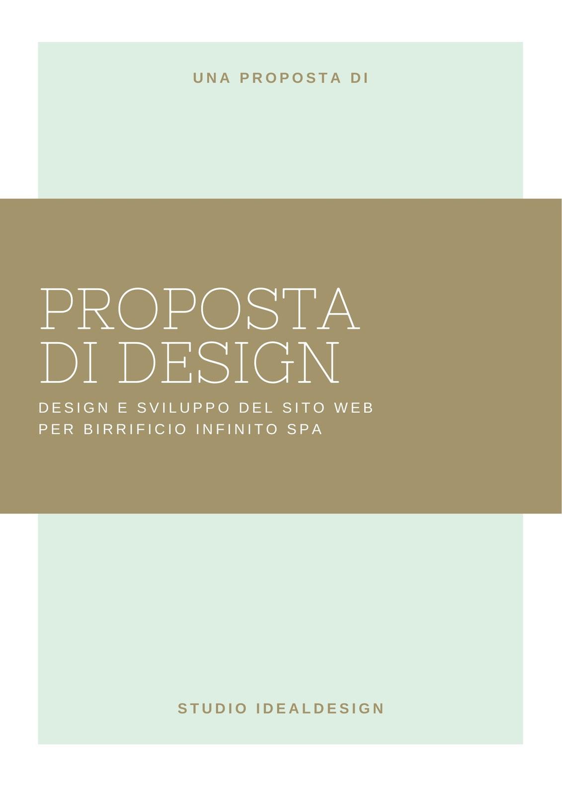 Blu Chiaro e Marrone Design Generale Proposta