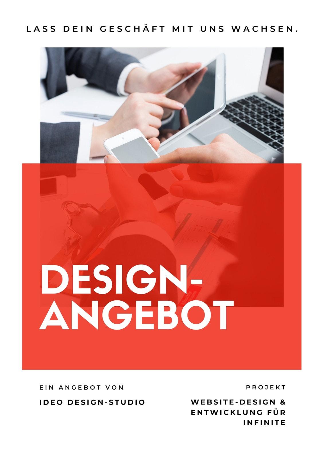 Minimalistisch Rot Design Allgemeines Angebot