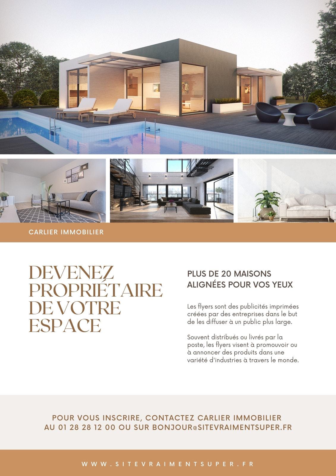 Marron Immobilier Commerce Flyer