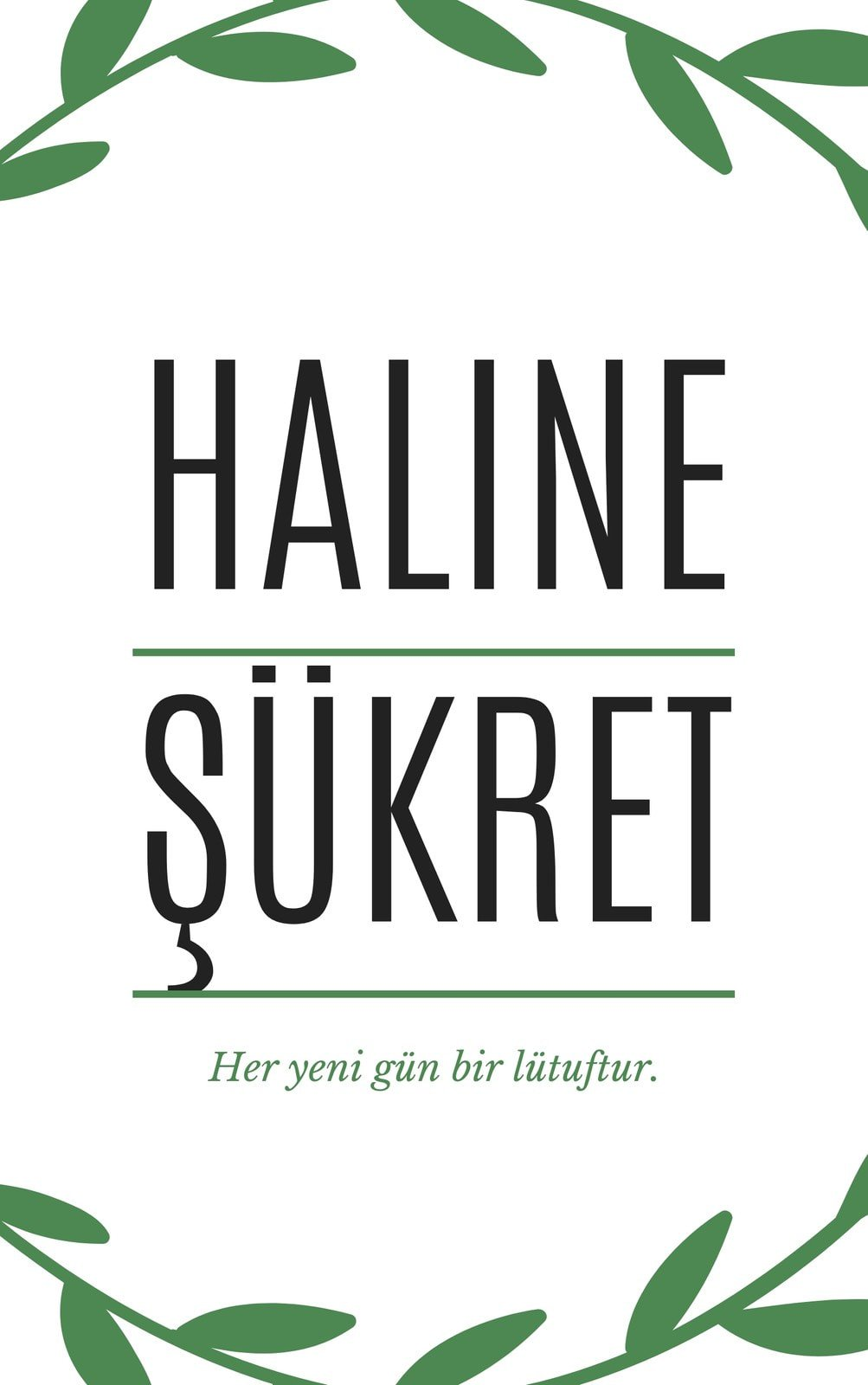 Yeşil ve Beyaz Sade Kişisel Gelişim Kitap Kapağı