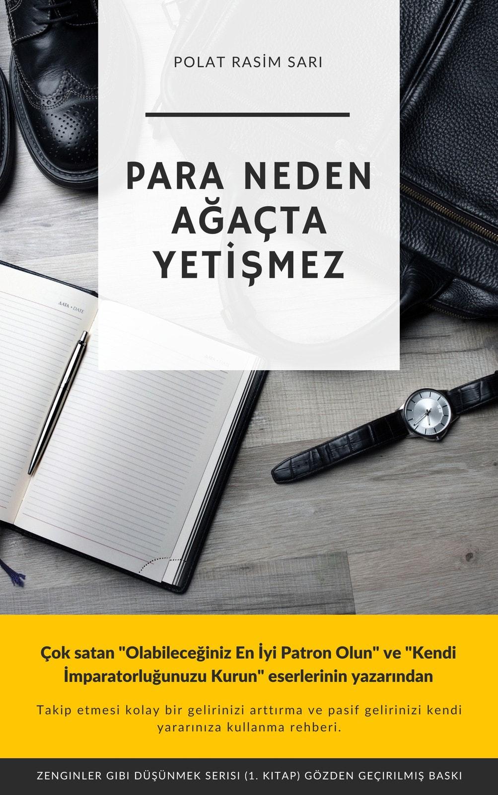 Siyah, Sarı ve Beyaz Modern İşletme Kindle Kapağı