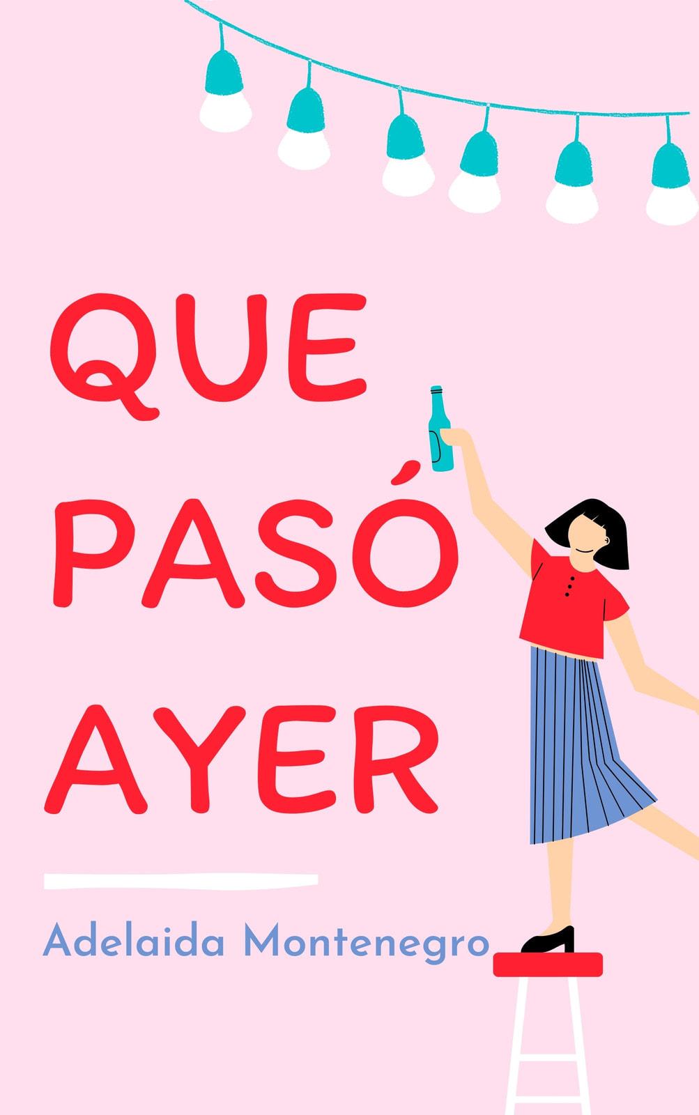 Rosa y Rojo Lindo Romance/Novela Romántica Tapa de Libro