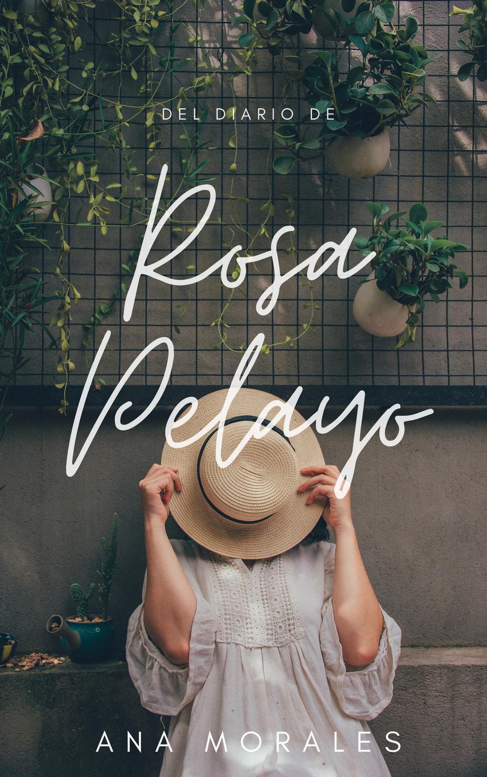 Blanco Manuscrito Superpuesto Romance/Novela Romántica Tapa de Libro