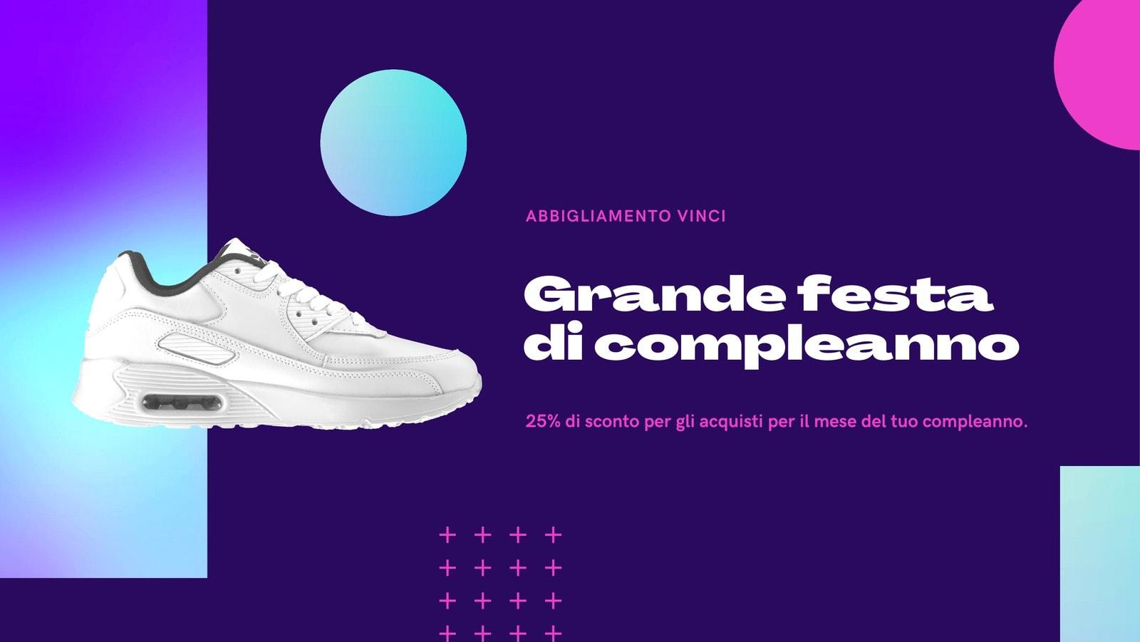 Viola e Turchese Gradiente Grafico Marchio / Impresa Compleanno Promo Copertina di Facebook