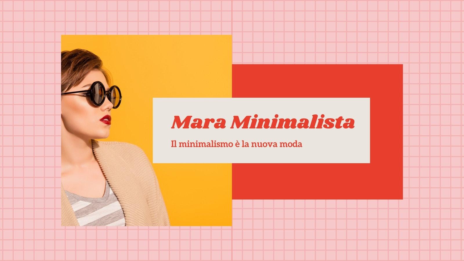 Rosa e Rosso Griglia Moda Influencer Nostalgia Copertina di Facebook