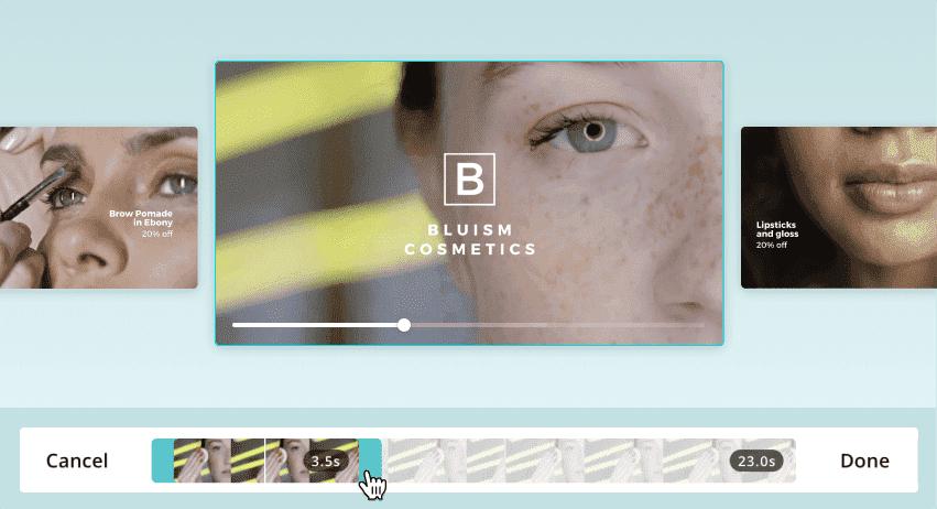 Strumento di creazione video Canva