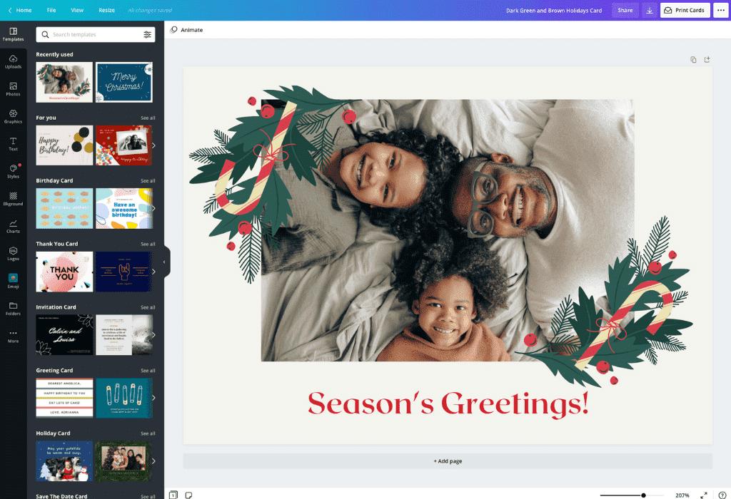 How to make a Christmas card - Canva