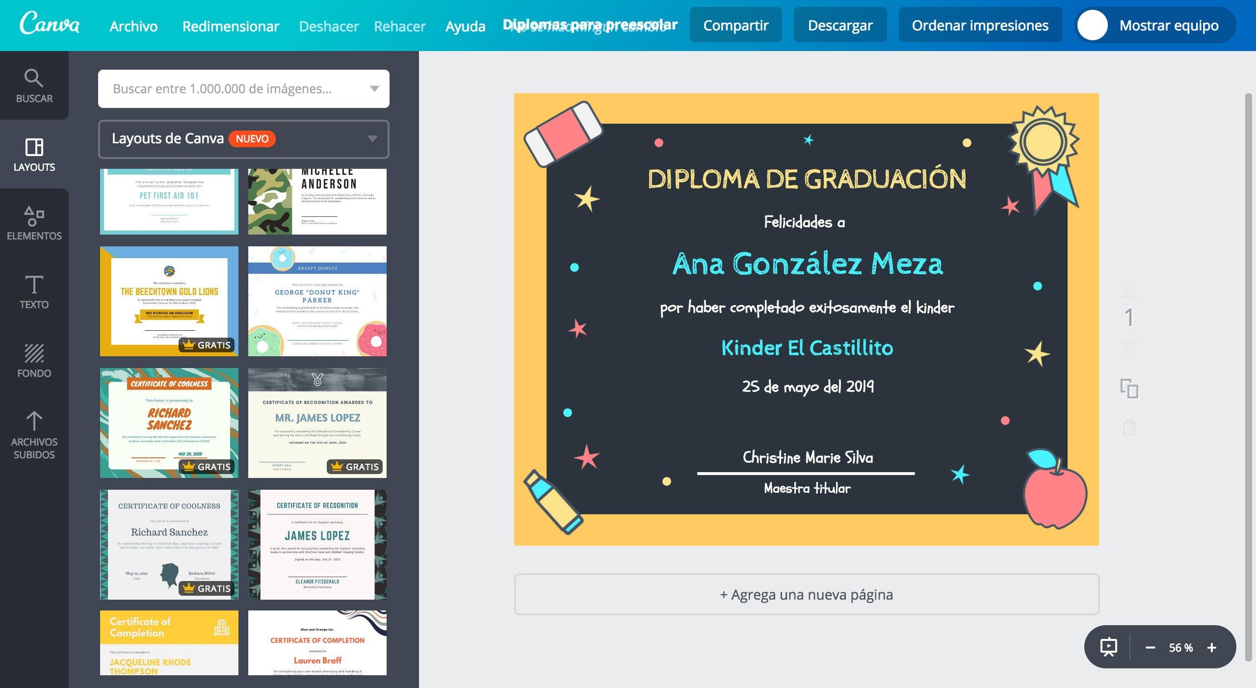 Diplomas para preescolar