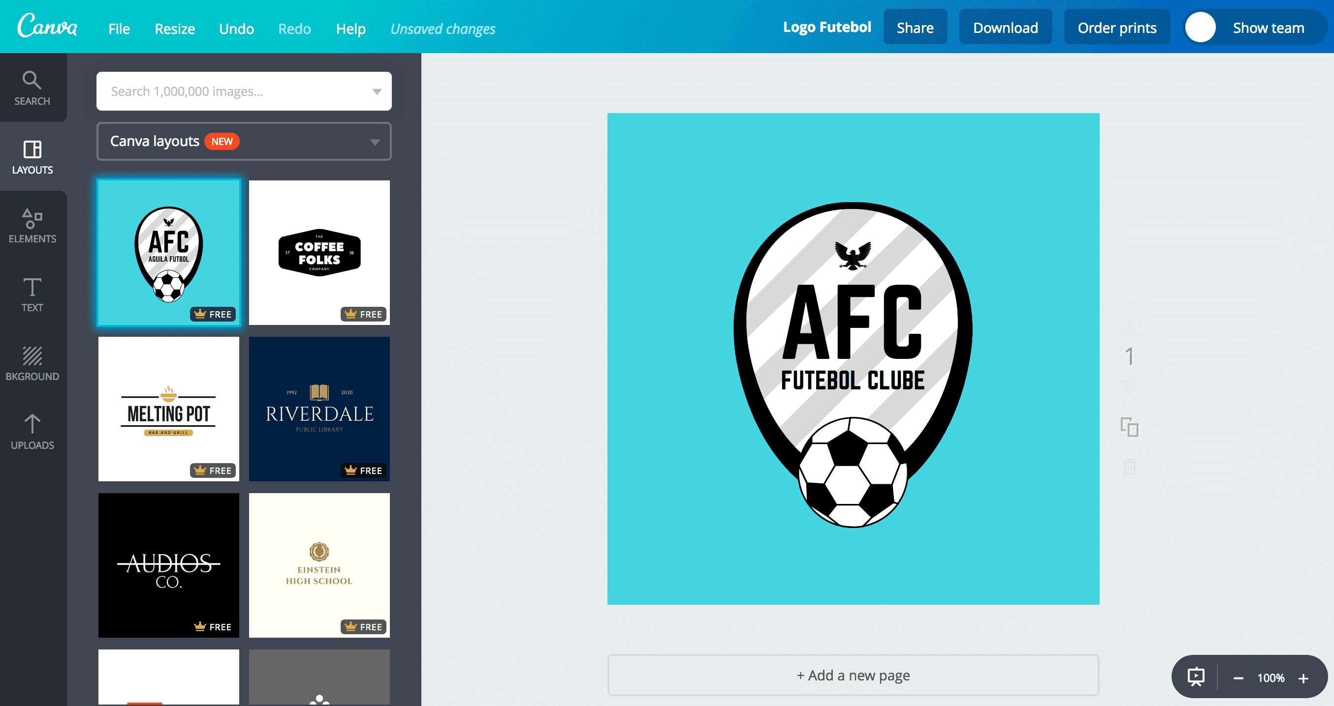 Logo de futebol