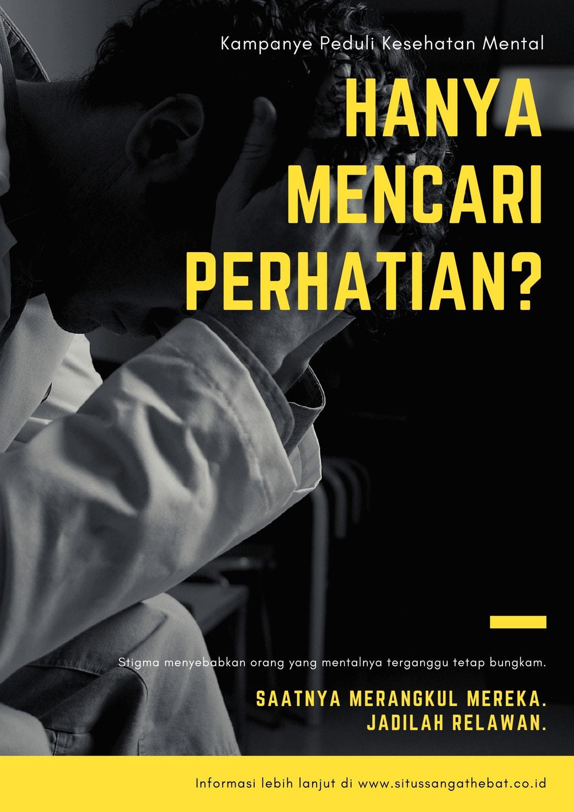 Kuning Foto Kesehatan Mental Poster