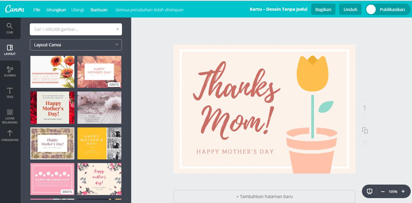 Kartu Ucapan Hari Ibu