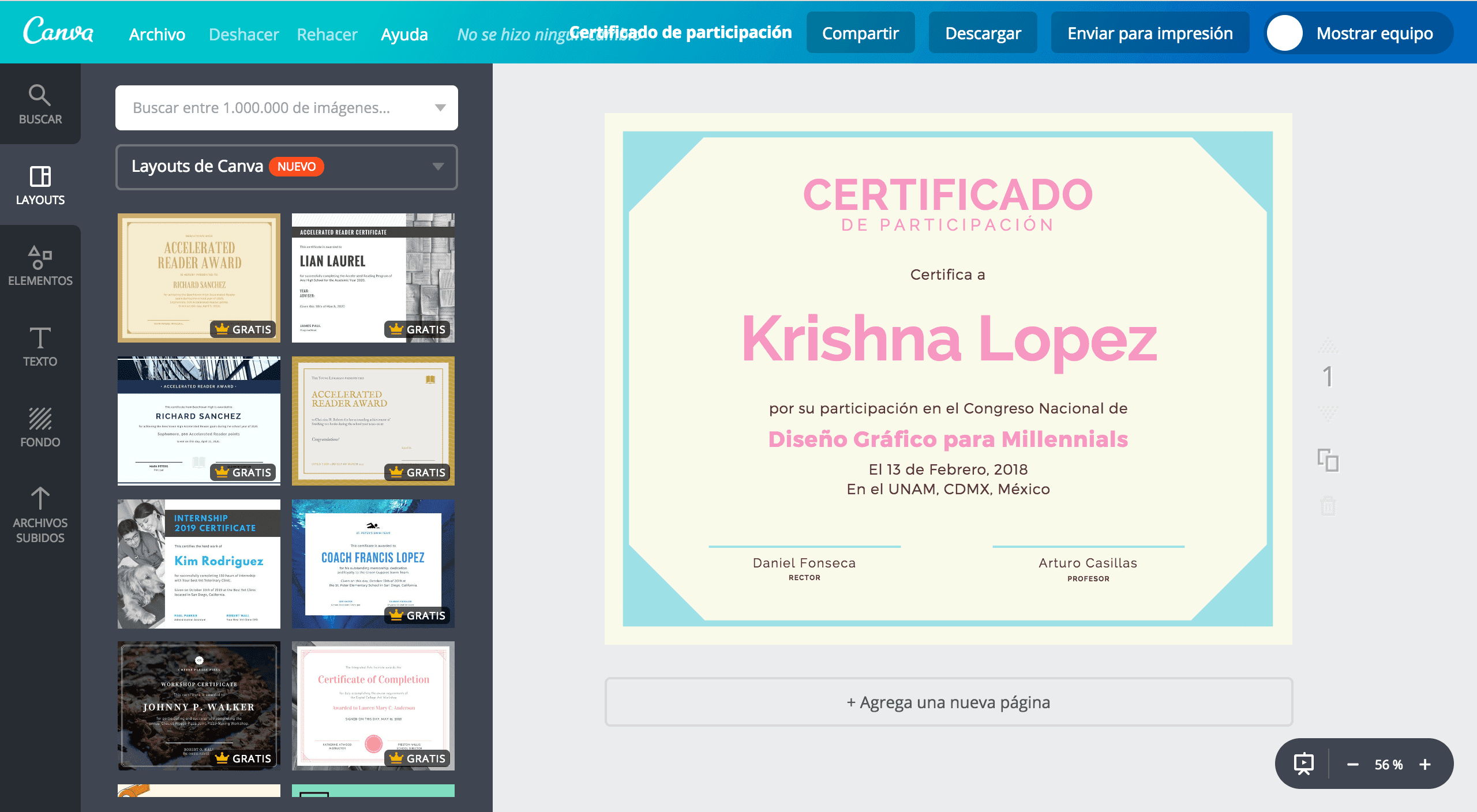 Certificados de participación