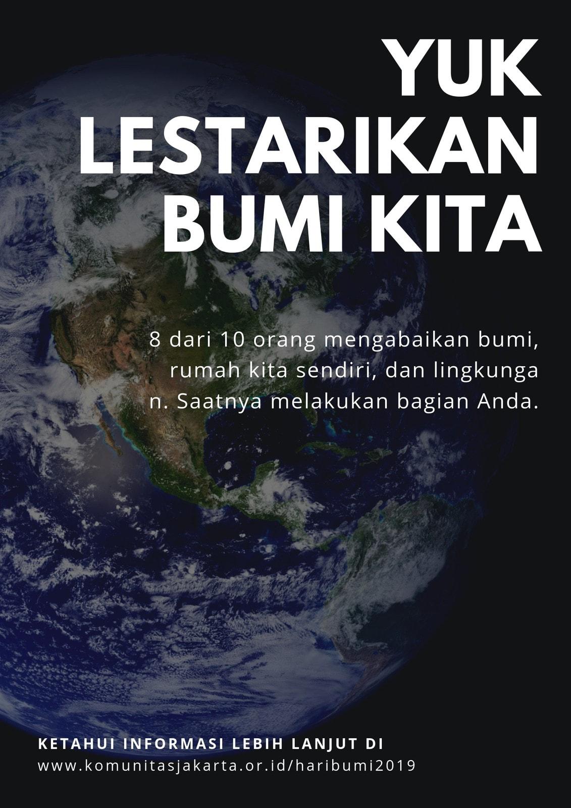 Putih Sederhana Hari Bumi Poster