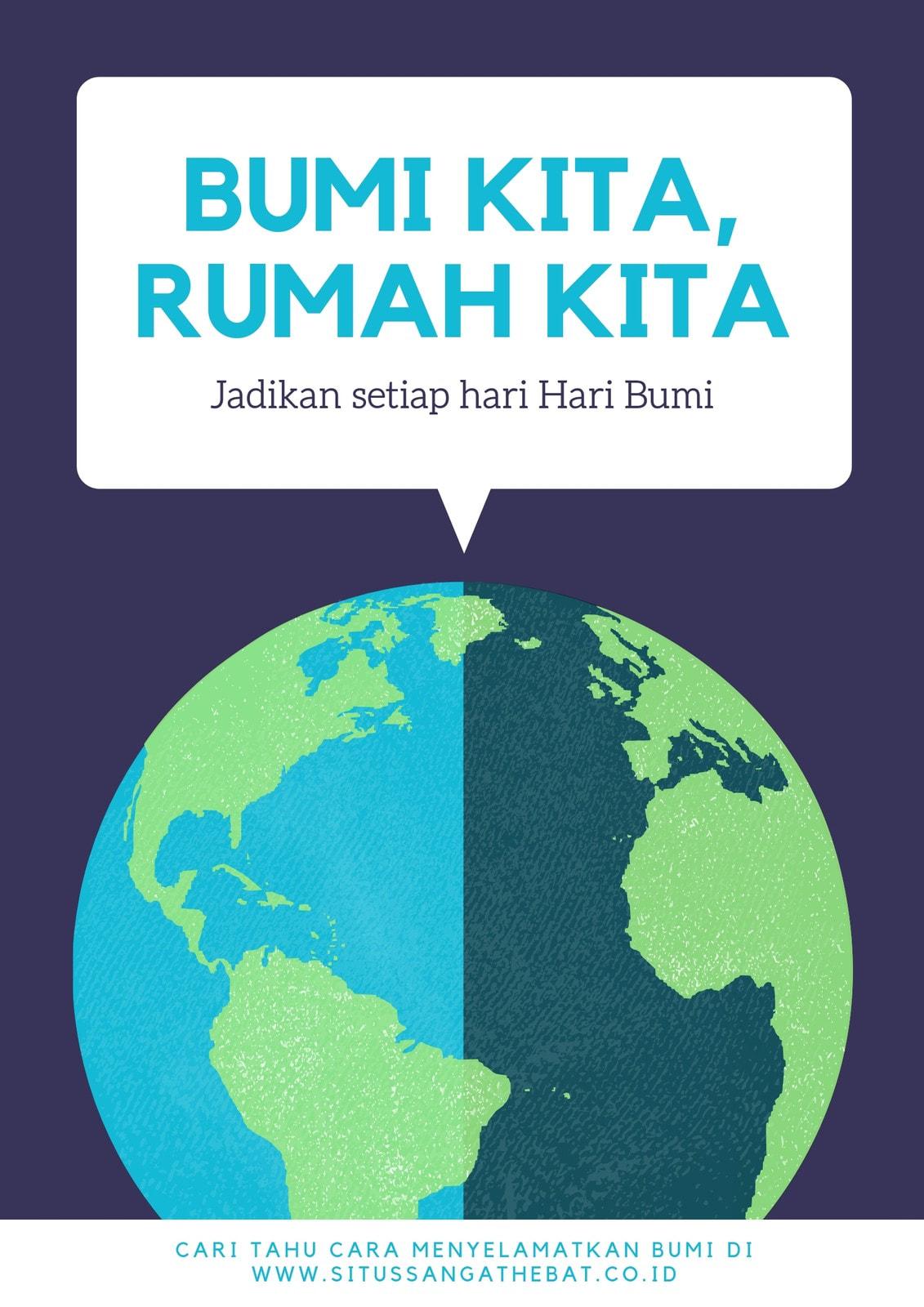 Violet Bergambar Hari Bumi Poster
