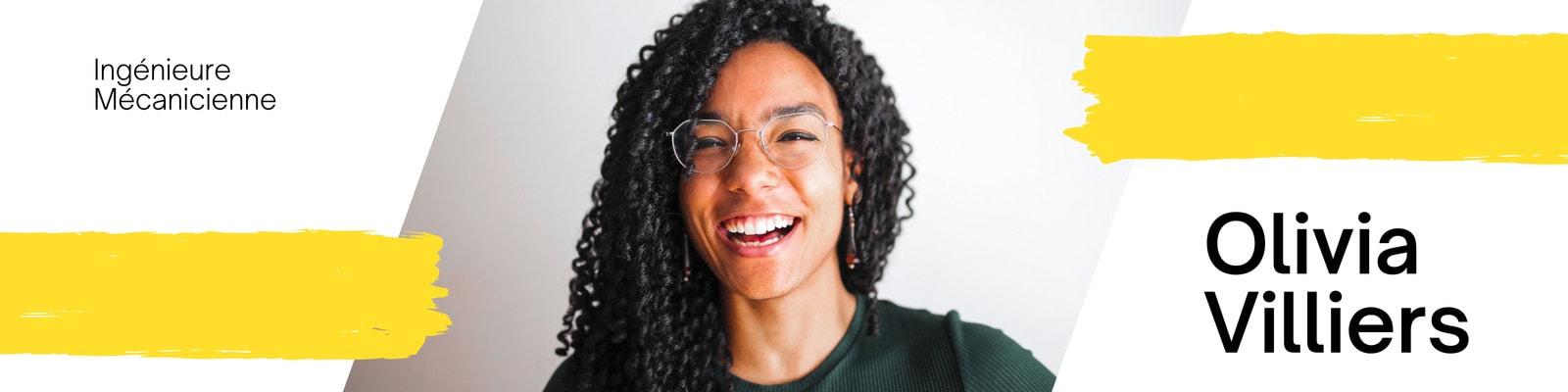 Jaune et Noir Global Réponse Ingénieur LinkedIn Bannière