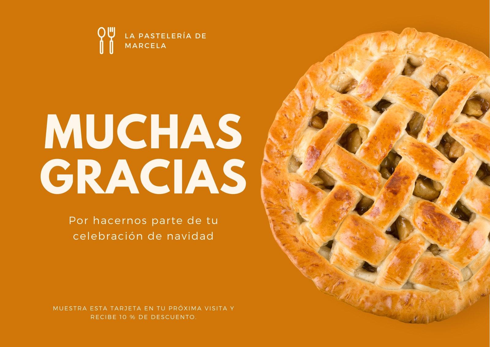 Acción de Gracias Pay Panaderías Tarjeta