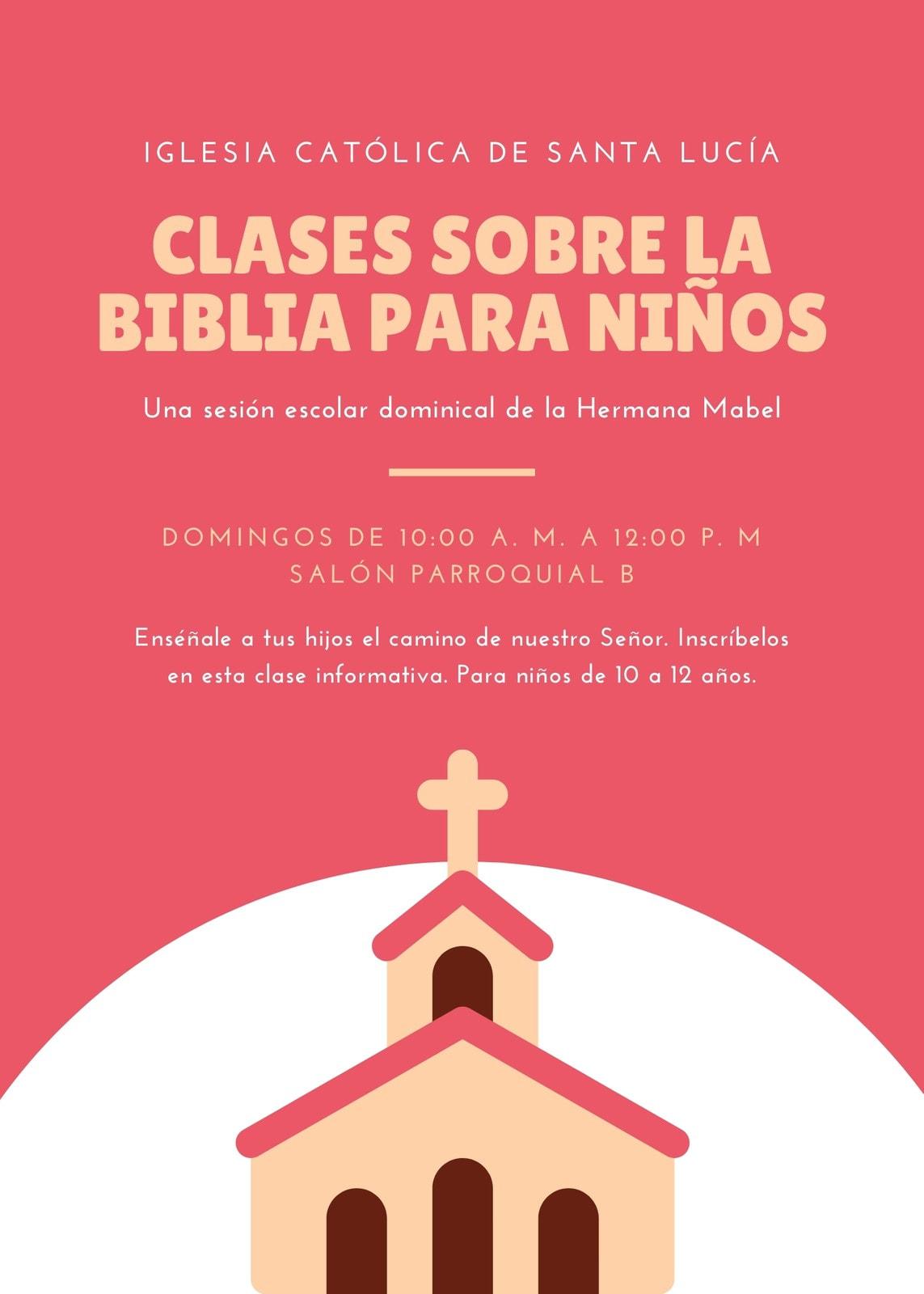 Rojo Escuela de Domingo Volante de Iglesia