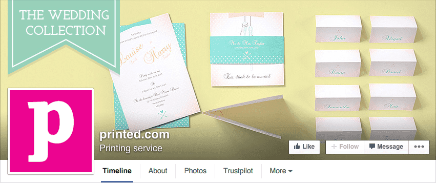 Facebook cover advertising product