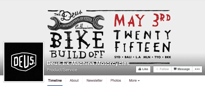Typography Facebook cover