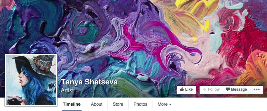 Paint texture creative Facebook cover