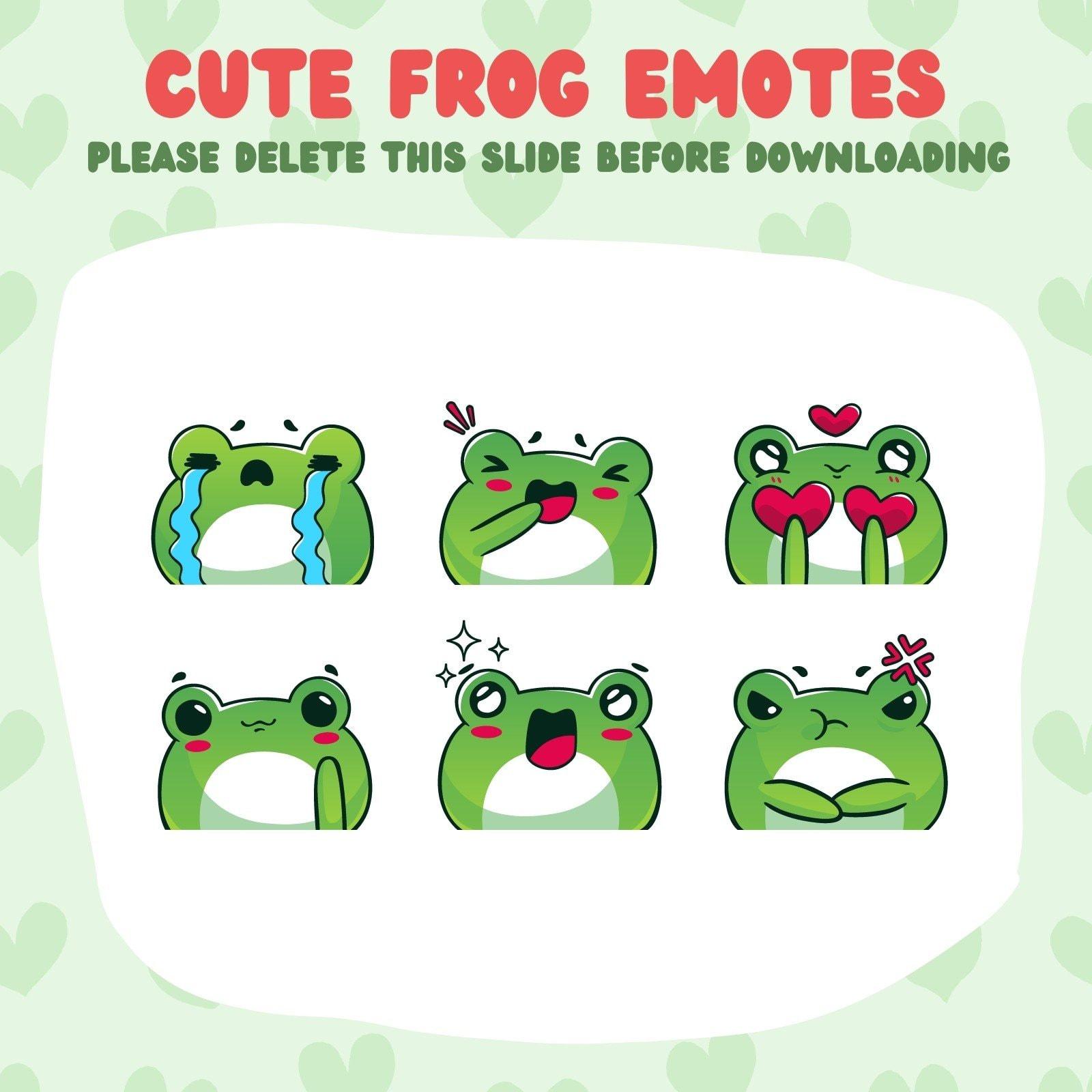 Green Cute Frog Twitch Emote