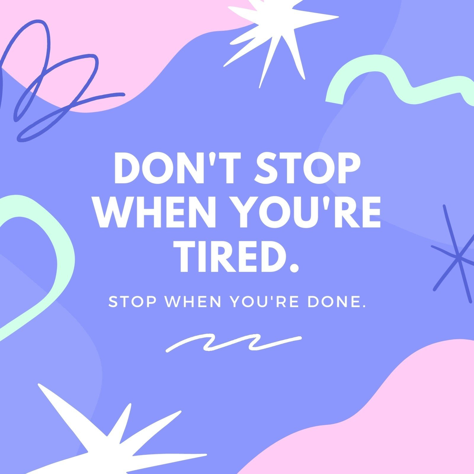 Purple and Pink Illustrative and Colorful Quotes Social Media Post