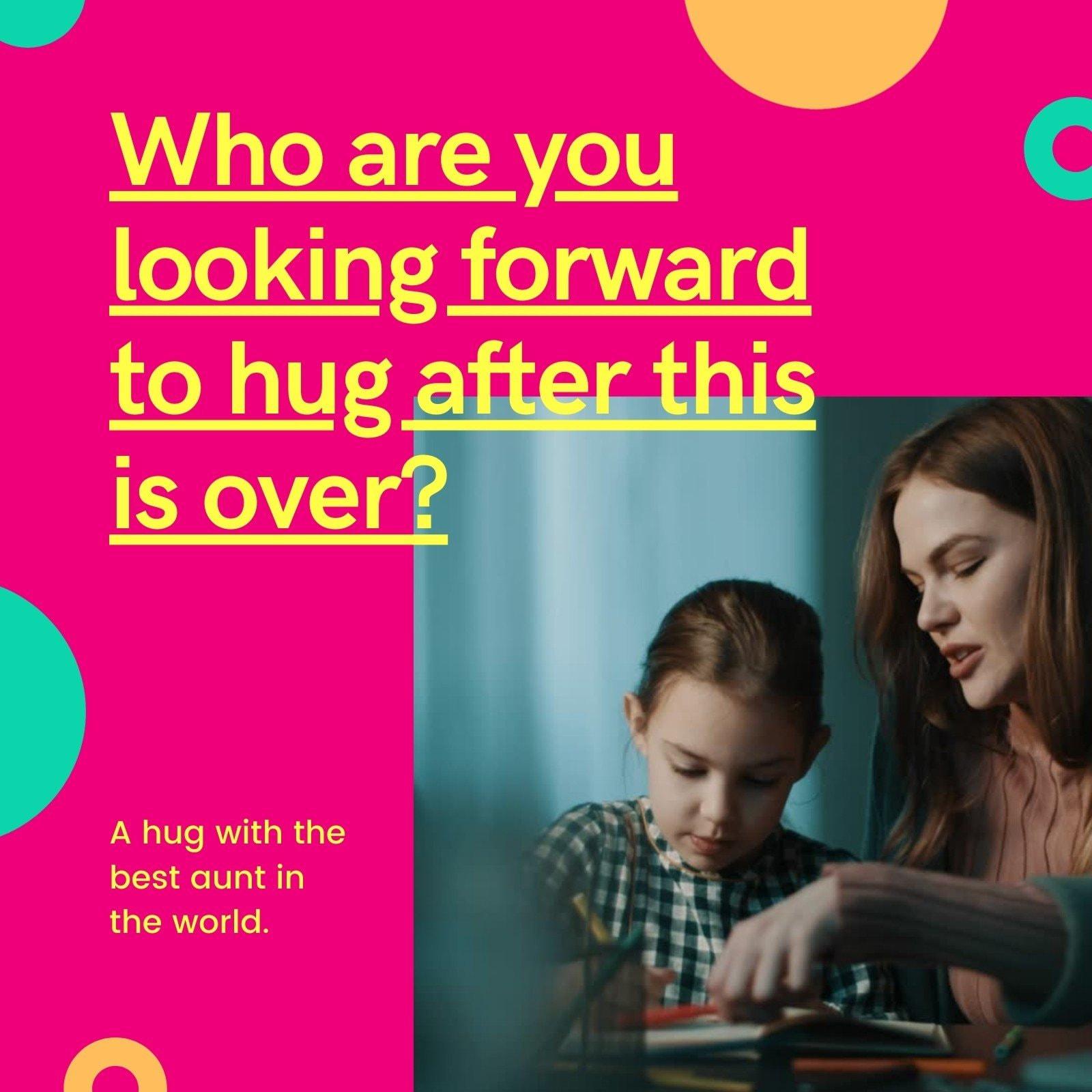 Pink Circle Bright and Bold Coronavirus Social Media Post