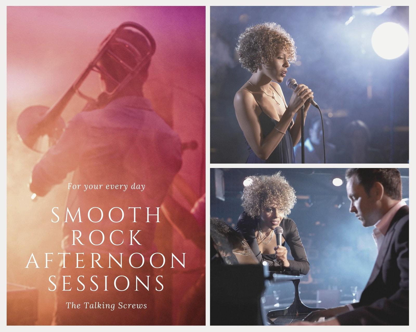 Smooth Rock Sessions Photo Collage