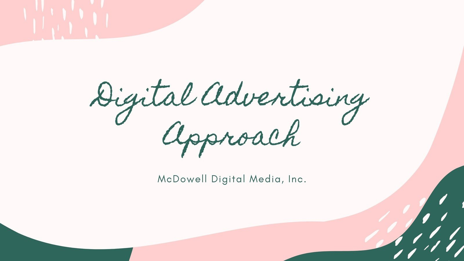 Pink and Green Art Advertising Video Presentation