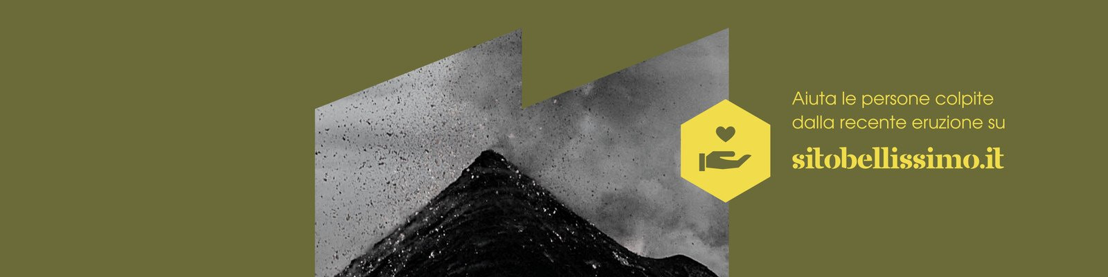 Verde Oliva e Giallo Cornici Dinamiche Vulcano Unità di Crisi Banner LinkedIn