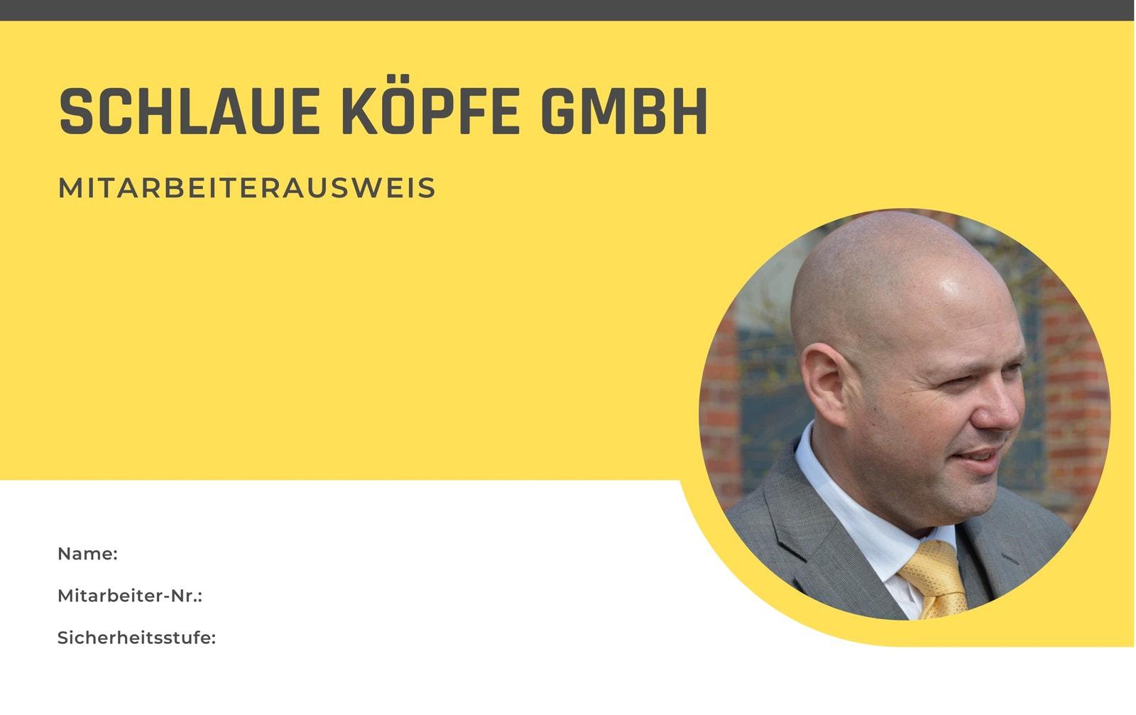 Gelb und Weiß Foto Sicherheit Ausweis
