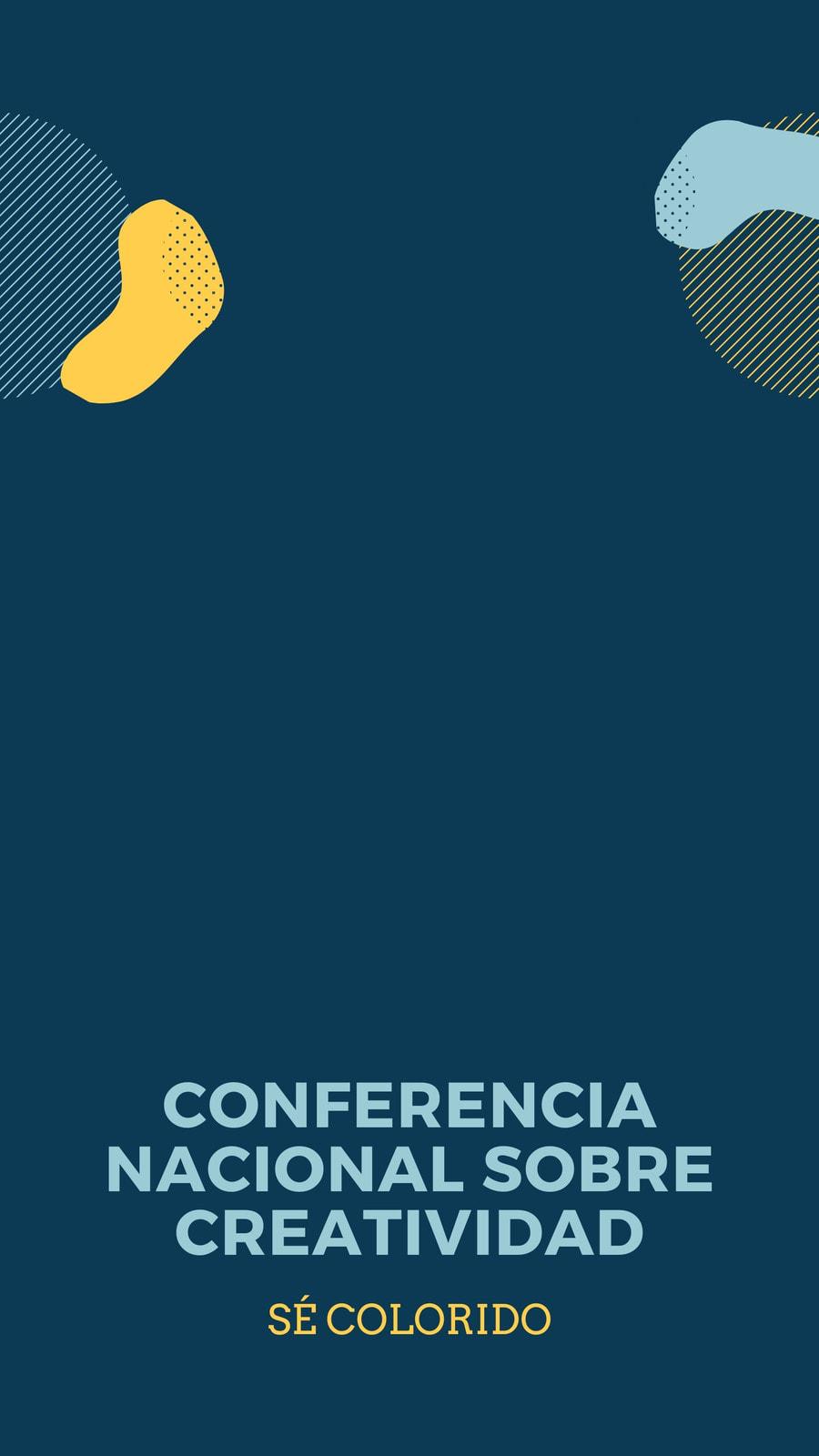Geométrico Conferencia Geofiltro de Snapchat