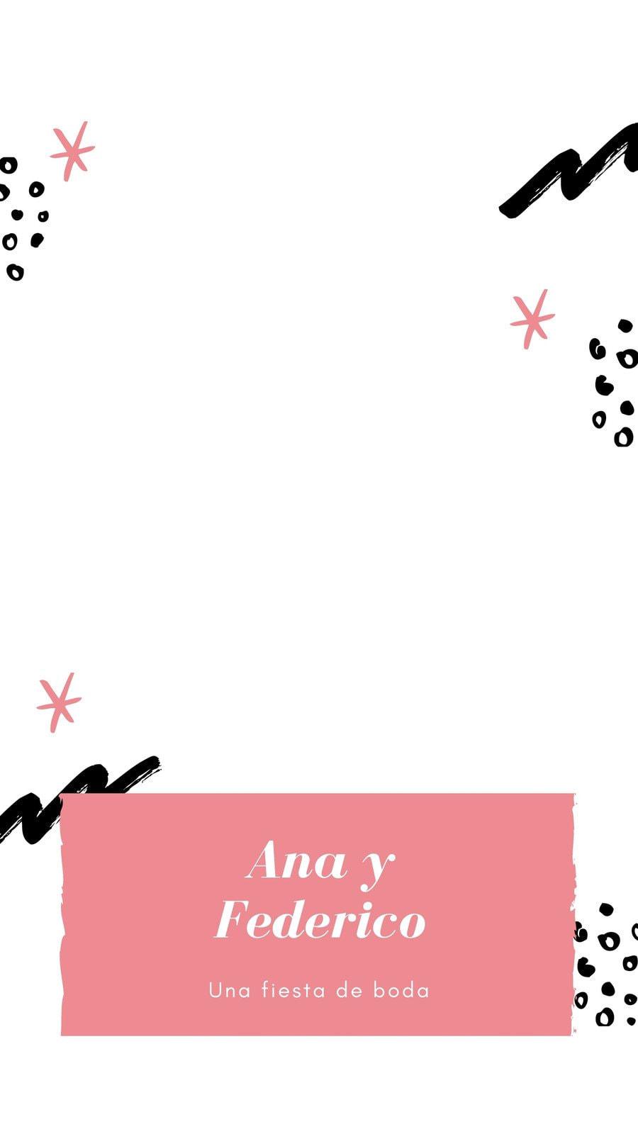Rosa Pincelada Boda Geofiltro de Snapchat