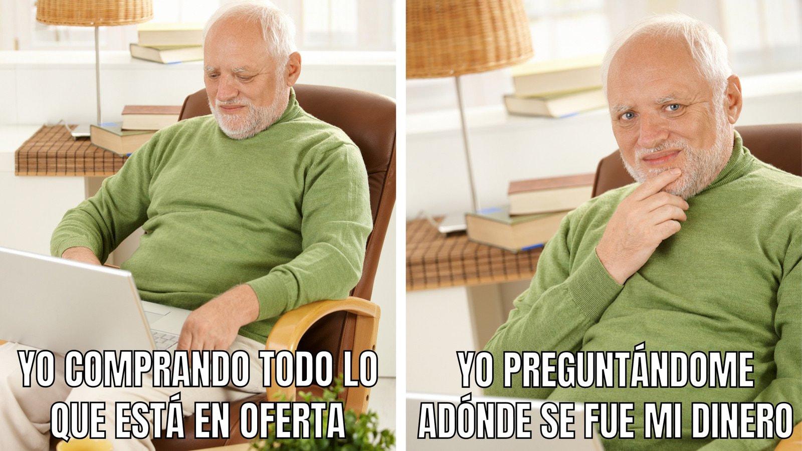 Hombre Viejo Pensado Divertido Foto Meme