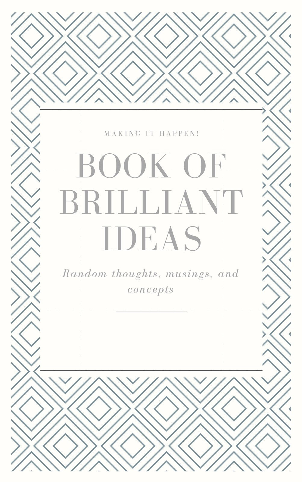 Elegant Patterned Notebook Book Cover