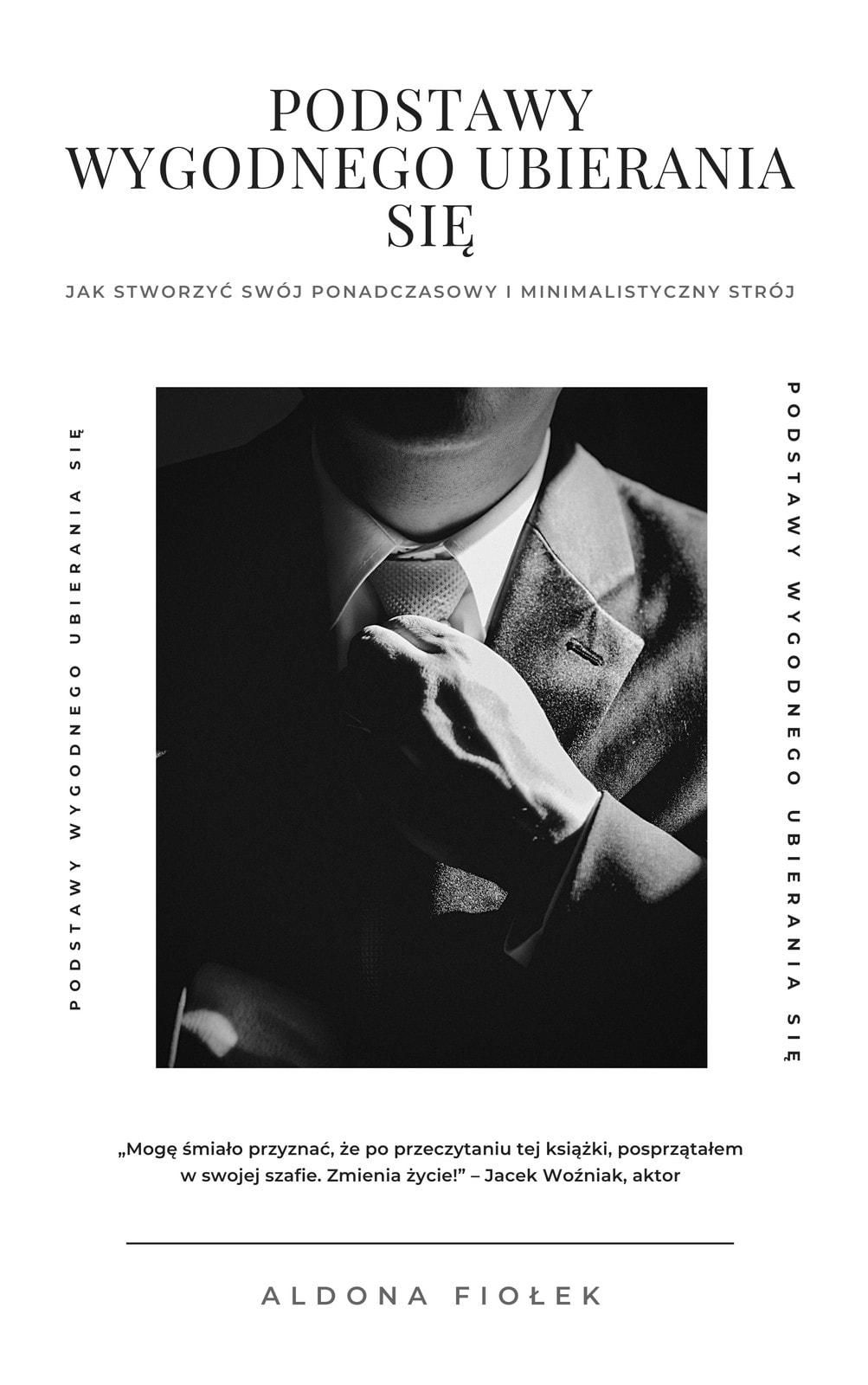 Czarna i Biała Elegancka Klasyczna Moda Okładka Książki