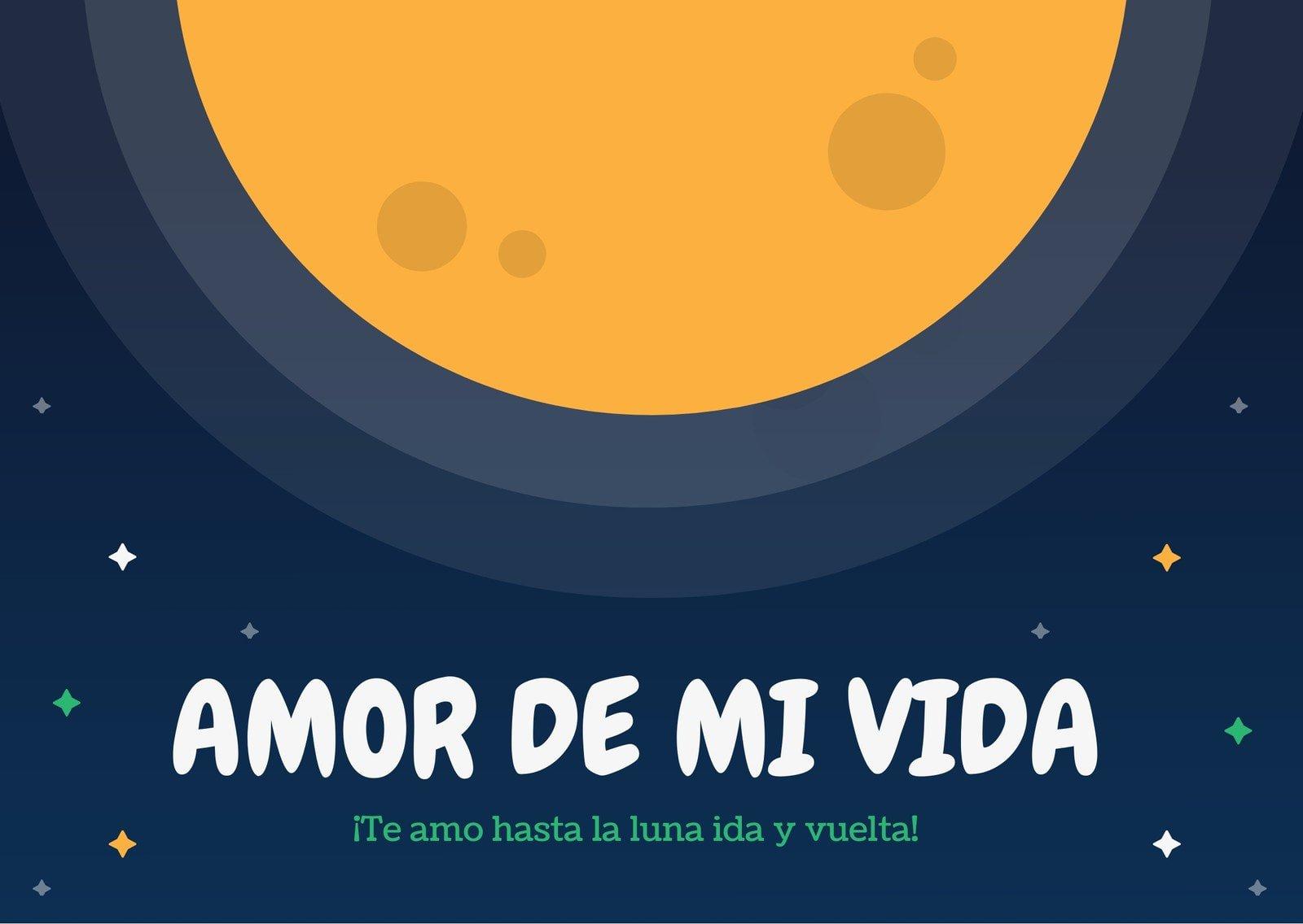 Luna Amor Tarjeta