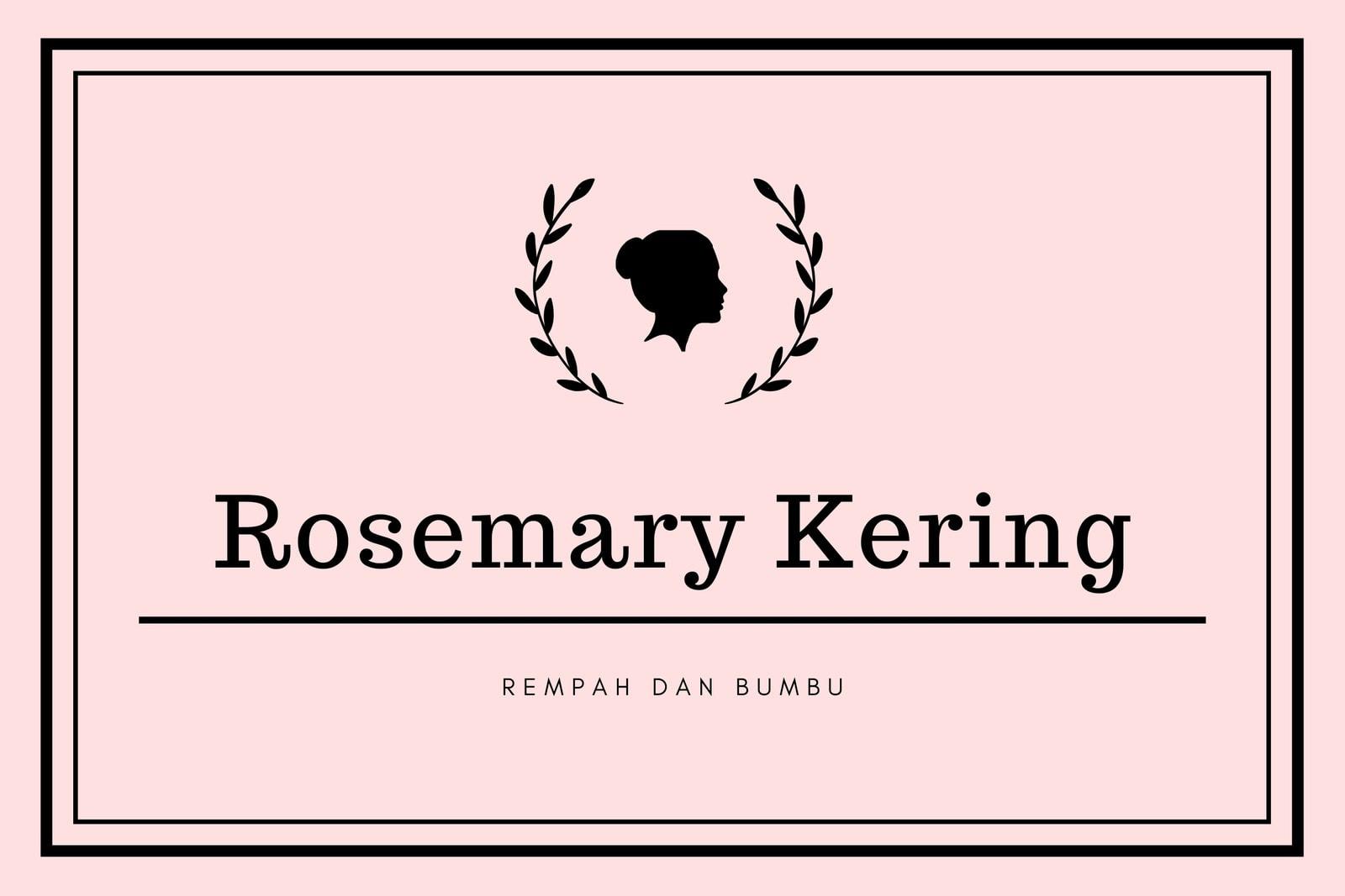 Merah Muda Elegan Kuno Bumbu Dapur Label