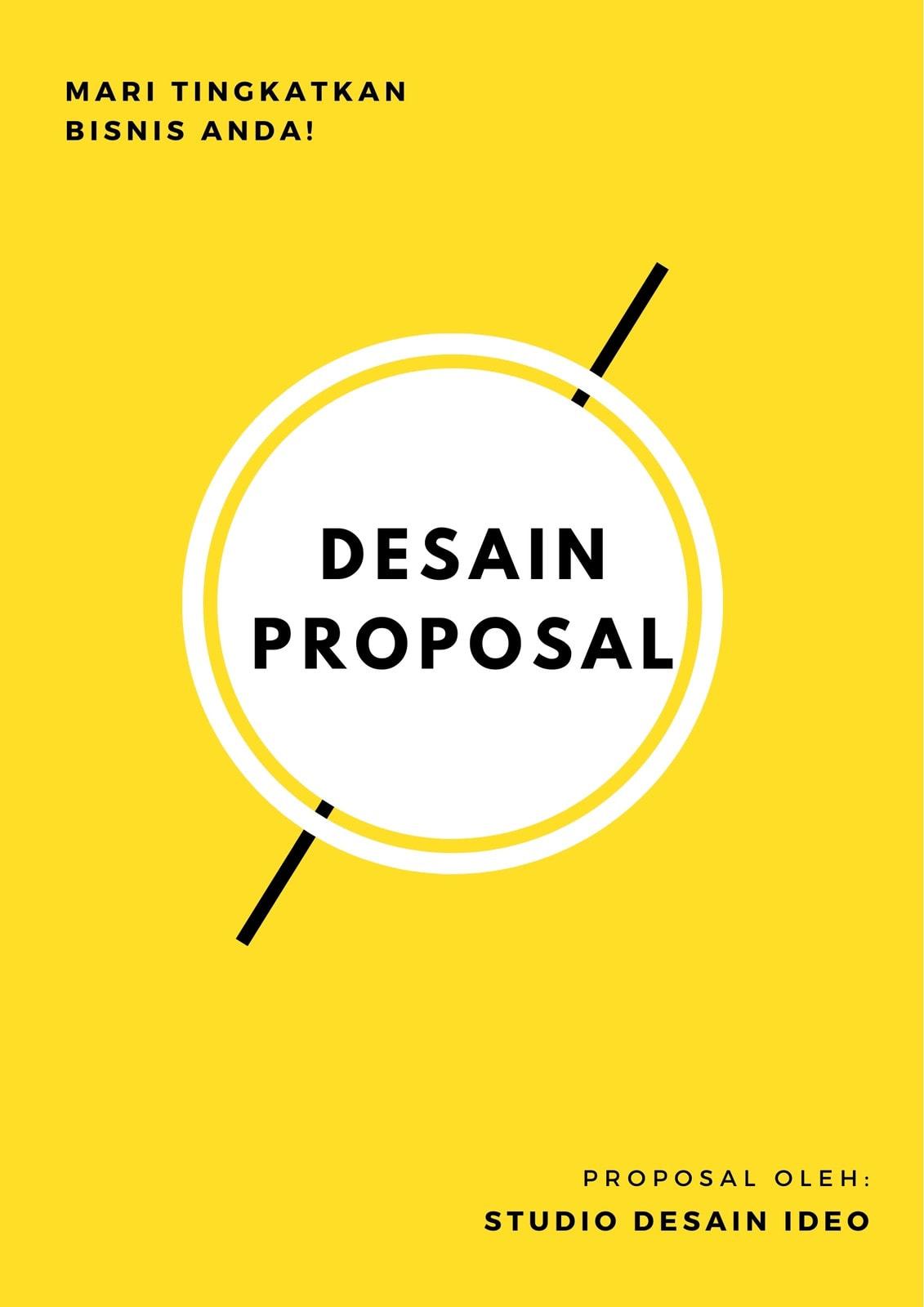 Kuning Desain Umum Proposal