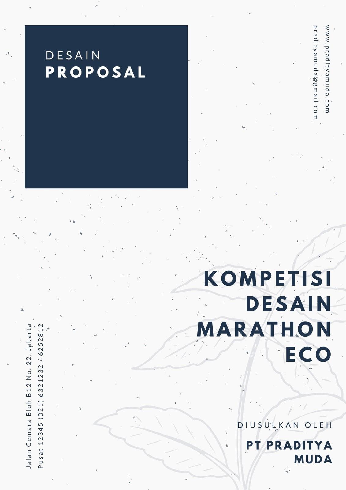 Biru dan Krem Kuno Umum Proposal