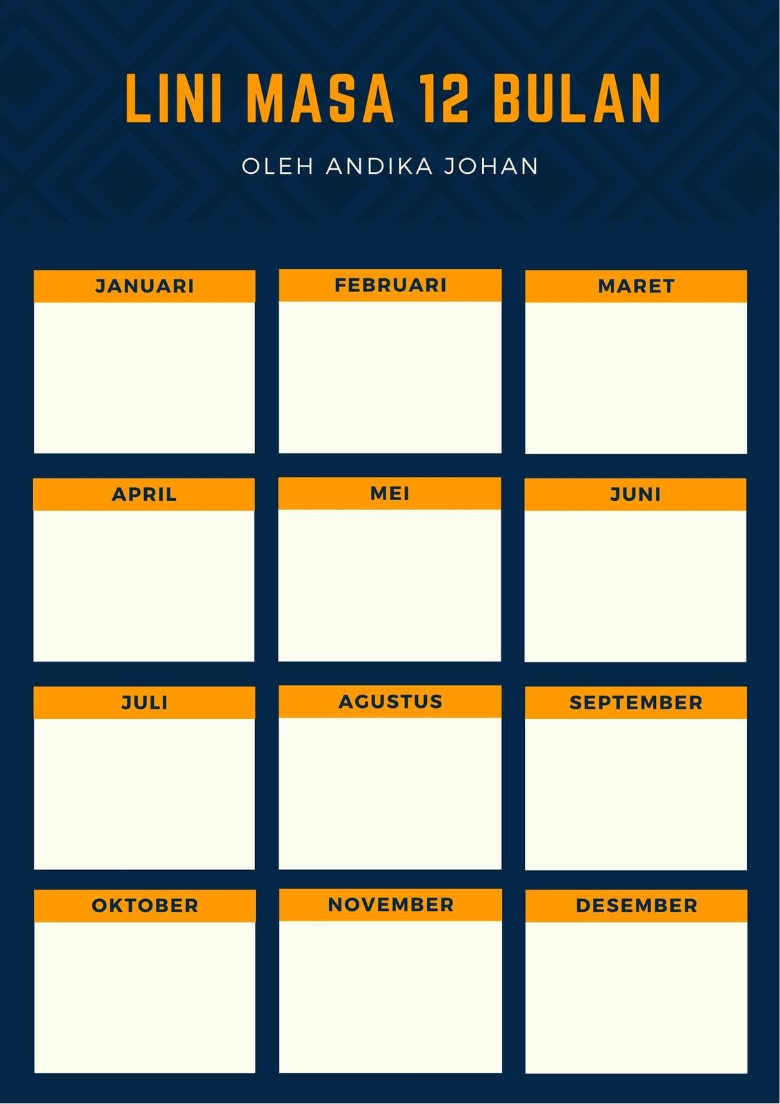 Agenda Jadwal Proyek Biru Tua dan Oranye