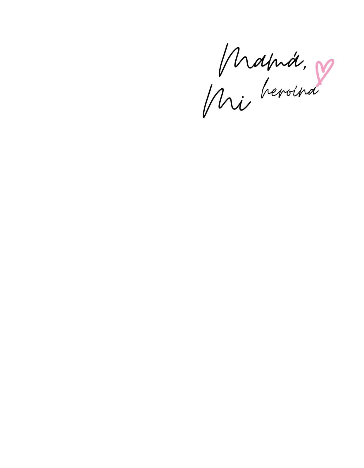 Rosa Manuscrito Acuarela Familia Día de la Madre Camiseta