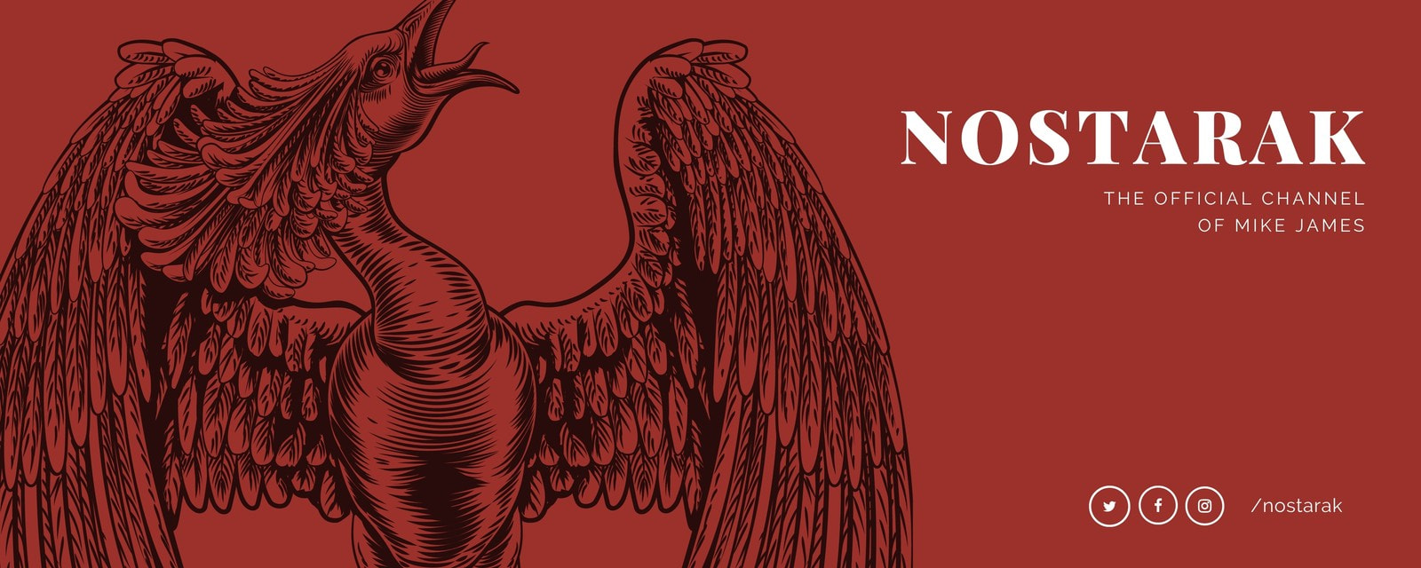 Red Phoenix Illustration Twitch Banner