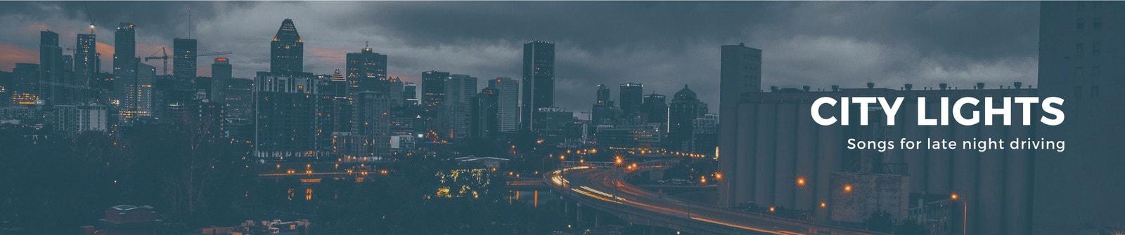 Cityscape Skyline General Soundcloud Banner